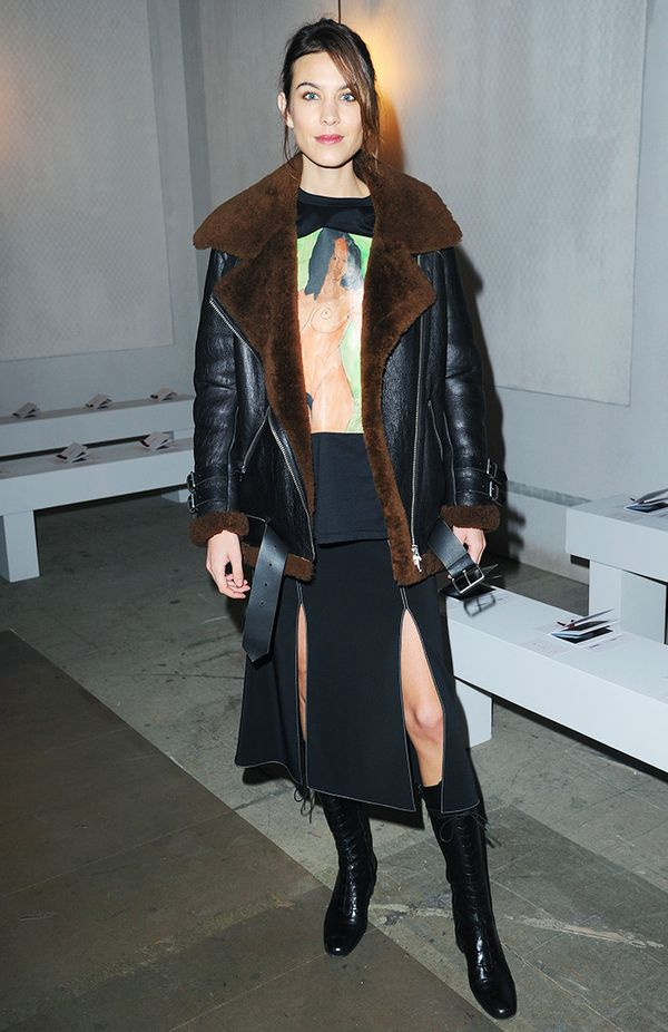 Alexa Chung style: Soften anything risqué with mannish styling.