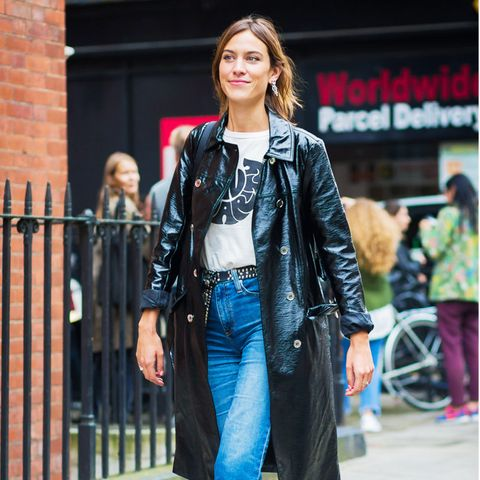 Alexa Chung style: Marks and Spencer patent coat