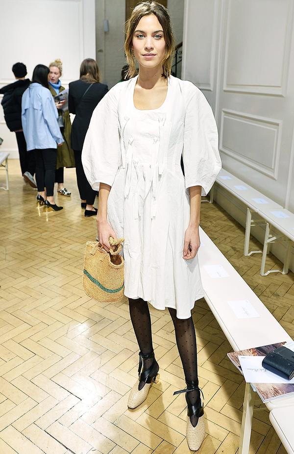 Alexa Chung style: carry Jane Birkin-esque straw bags.