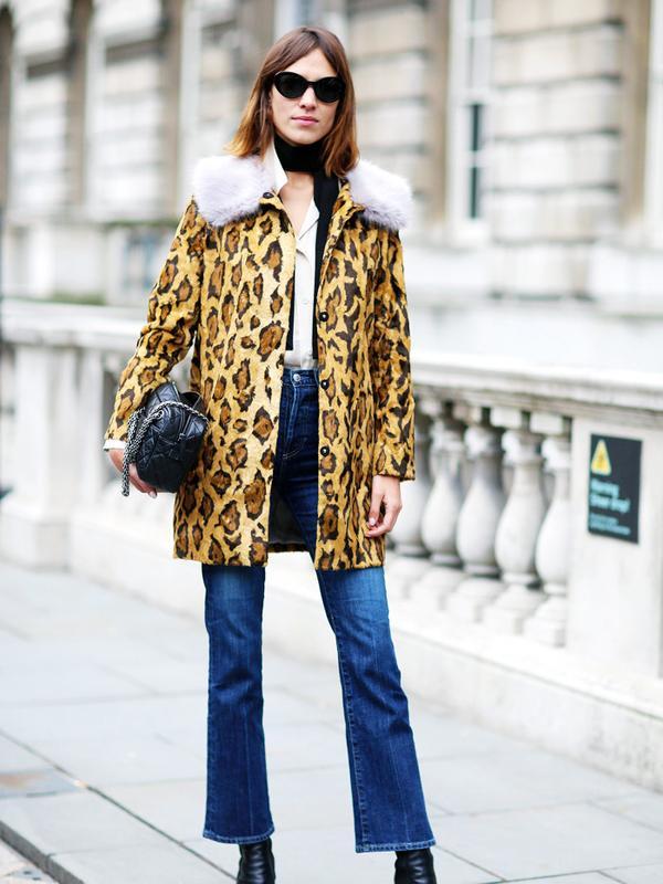 Alexa Chung style: treat leopard print like a neutral
