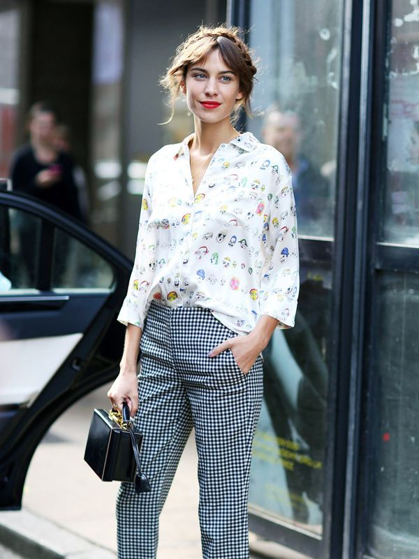 Alexa Chung style: don't be afraid of clashing unlikely prints now and then