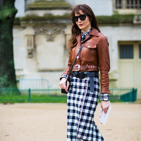 How to Wear a Leather Jacket: Mix Colour With Prints