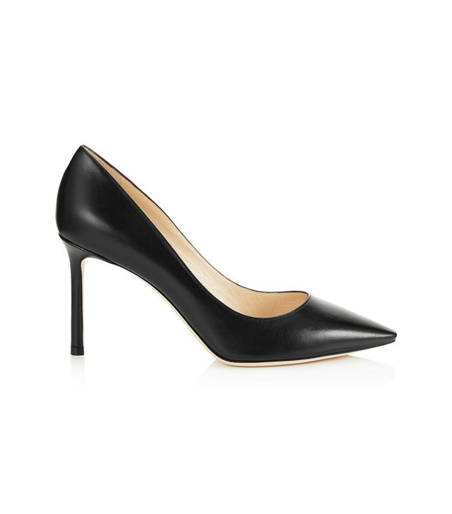 How to dress in your 30s: Jimmy Choo Black Kid Leather Pointy Toe Pumps