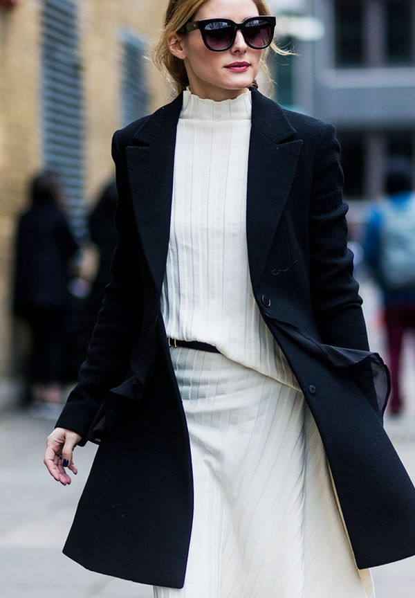 Olivia Palermo Style: When in doubt, wear black and white