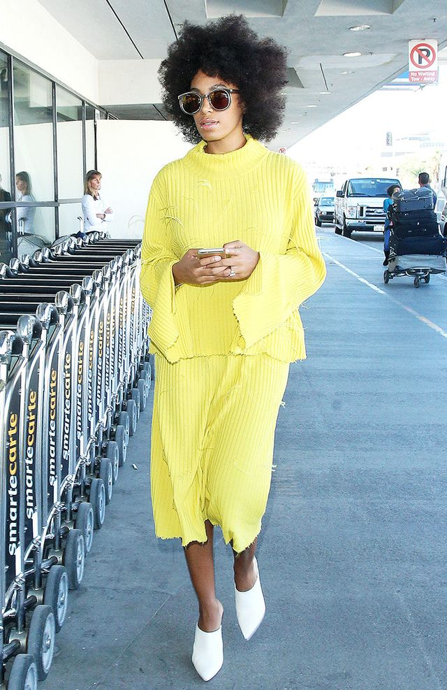 Best colours for skin tone: dark-skinned: Solange Knowles