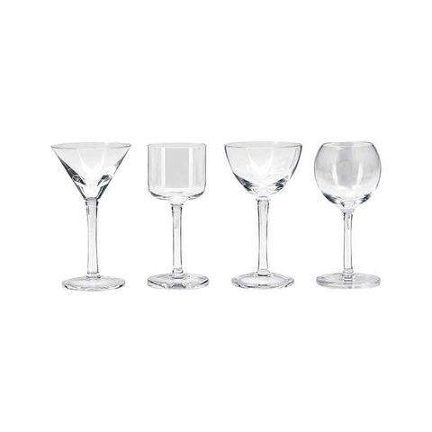 Lulu Liqueur Glass Assorted Set 4