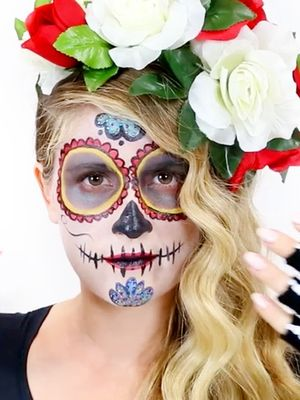 Video: A Day of the Dead Makeup Look Perfect for Halloween