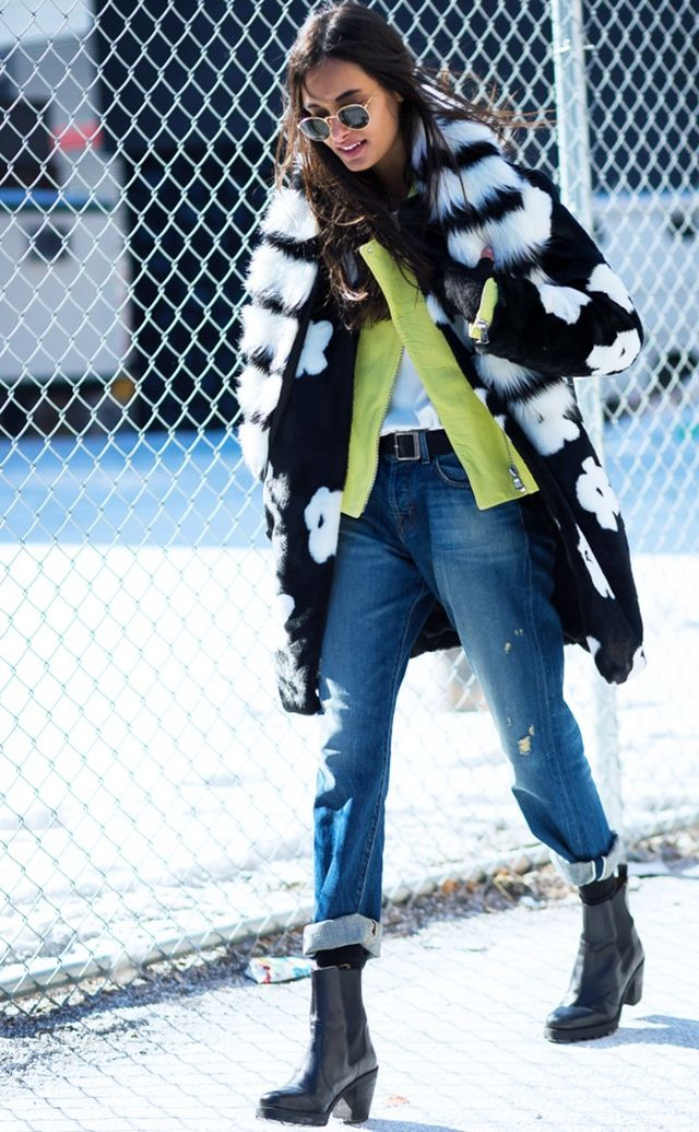 A natty faux-fur stole is the ultimate winter add-on accessory that'll rev up each outfit with a side of personality.