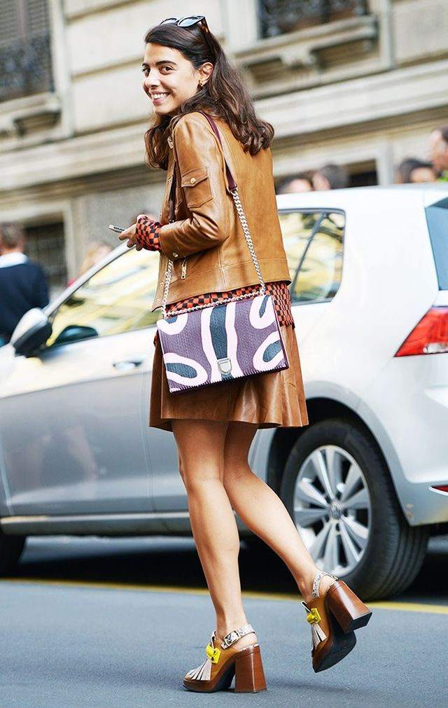 Tan Leather Skirt Outfit | Jill Dress
