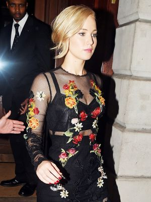 Jennifer Lawrence Just Wore a Gorgeous Sheer Dress in London