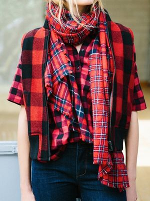 Would You Wear a Plaid-on-Plaid Look?