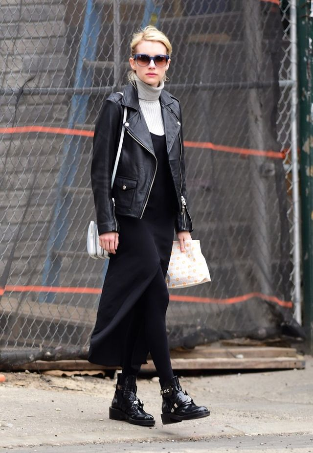 Celebrities In Black Leather Jackets - JacketIn