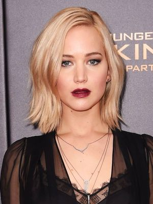 Jennifer Lawrence Went for All-Out Drama With This Sheer Look