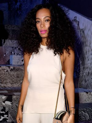 Solange Knowles Knows How to Pull Off a Red Dress
