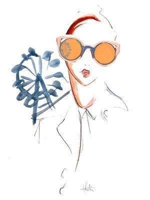 5 Gorgeous Fashion Illustrations Inspired by Fendi's Must-Have Sunglasses