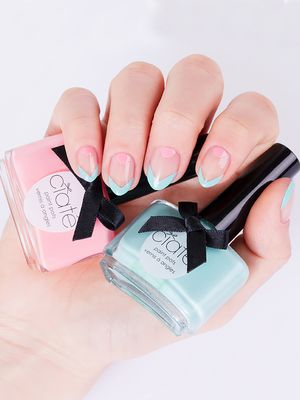 Tutorial: A Spring-Ready Negative Space Mani