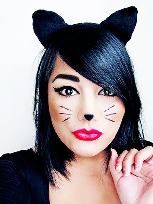 Грим кошки на хэллоуин своими руками