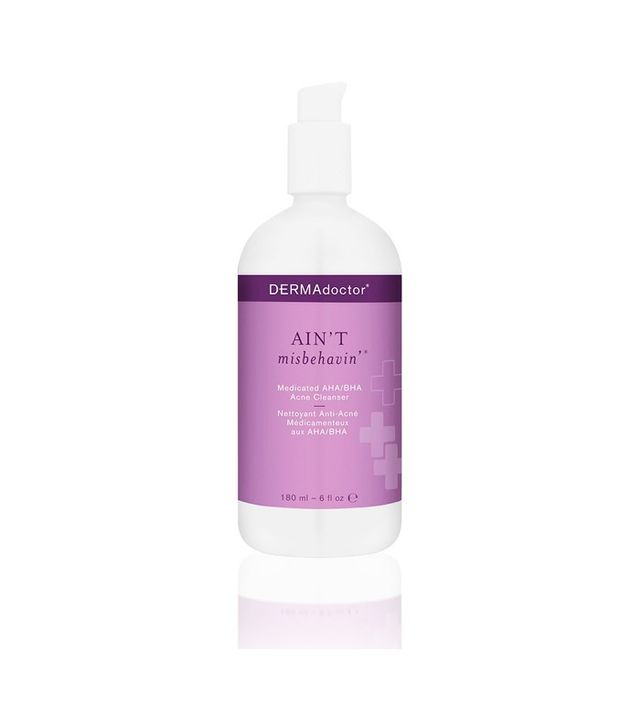 7 Brilliant Ways to Unclog Your Pores: Dermadoctor Ain't Misbehavin' Medicated AHA/BHA Cleanser