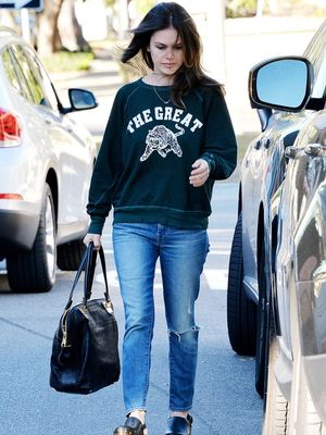 Shop Rachel Bilson's Stylish Graphic Sweatshirt