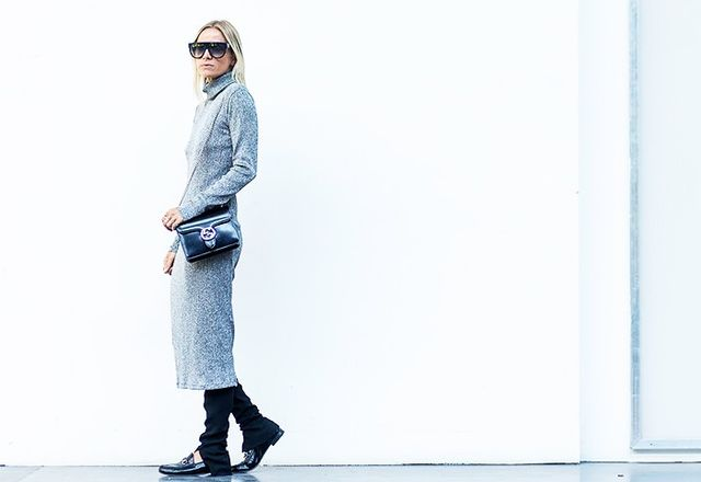 #2: Sweater Dress + Ankle Boots
