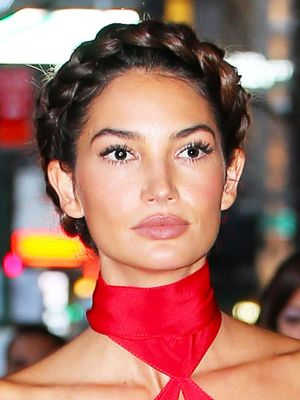 You Have to See Lily Aldridge's Plunging Red Jumpsuit