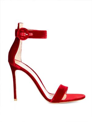 Love, Want, Need: Gianvito Rossi's Red Velvet Sandals