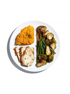 Here's What a Portion-Controlled Holiday Meal Actually Looks Like