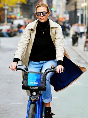 Shop the Trench Coat Karlie Kloss Wears Bike-Riding