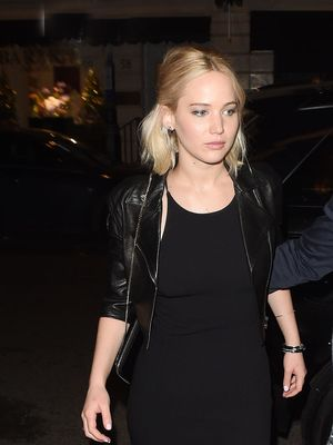 Jennifer Lawrence Has a Major Slit Dress Moment in London