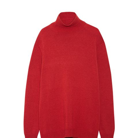 Cape-Back Wool and Cashmere-Blend Turtleneck Sweater