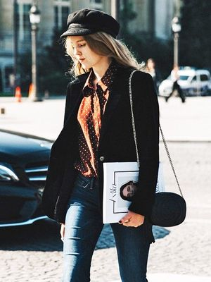 A Parisian-Chic Take on Flared Jeans
