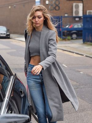 We're Obsessed With Gigi Hadid's Snakeskin Ankle Boots