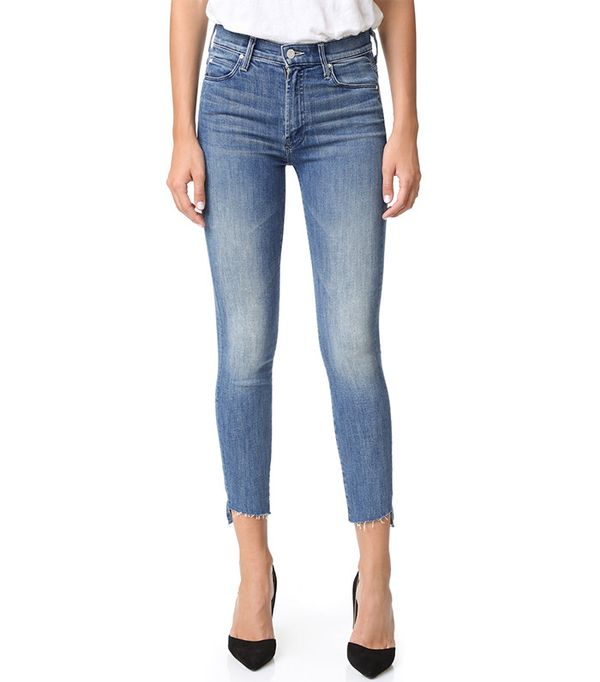 Mother The Stunner Zip Ankle Step Fray Jeans