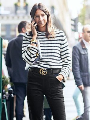 A French Editor-Approved Way To Wear A Striped Sweater