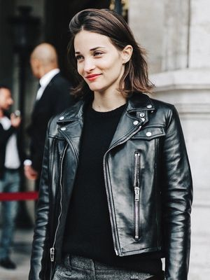 A Leather Jacket Look That's Perfect for the Office and Beyond