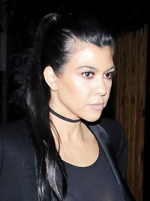 Kourtney Kardashian Just Wore a Completely Sheer Top Out With Kendall