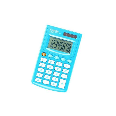 8 Digit Handheld Calculator Blue