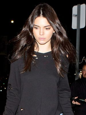 Kendall Jenner Wore Short Shorts With Knee-High Boots at a Club