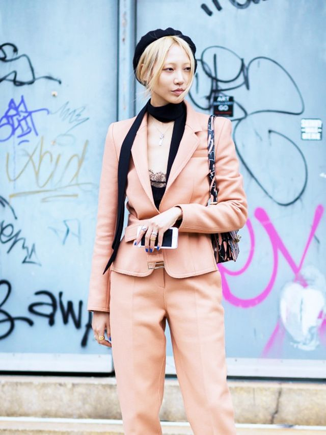 Style Notes: Your wool beret will go perfectly with almost anything in your wardrobe, from sophisticated LBDs to slick suits in candy-whipped colours. P.S. A skinny scarf is BFFs with the beret...