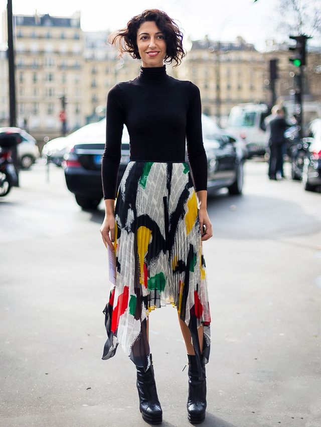 London Look #1: Black Roll-Neck and Midi Skirt