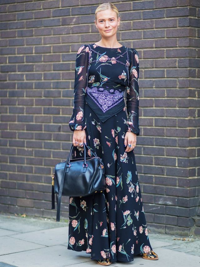 London Look #3: Floral Maxi Dress