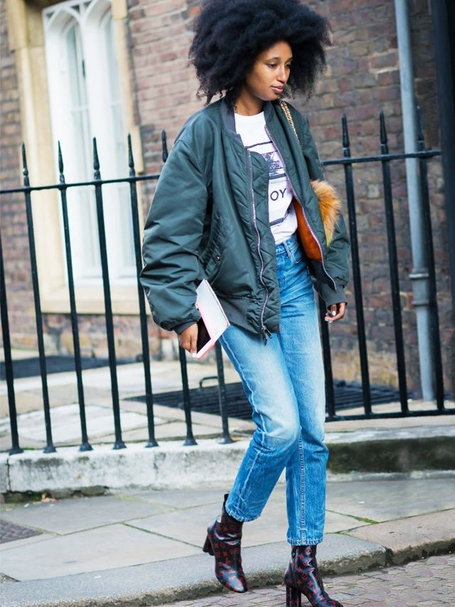 London Look #6: Bomber Jacket and Jeans