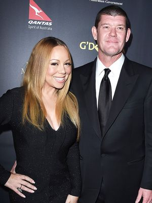 The First Look of Mariah Carey Wearing Her Massive Engagement Ring
