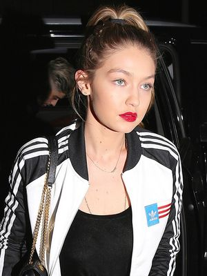 Gigi Hadid Wore a Tracksuit for a Night Out