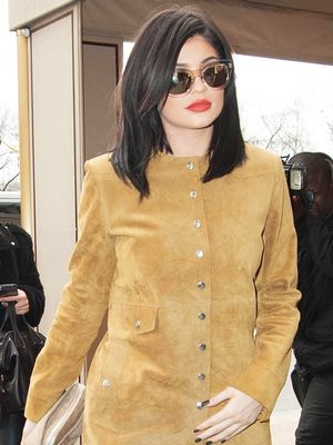 Kylie Jenner Is Fashion Week–Ready in a Short Suede Dress