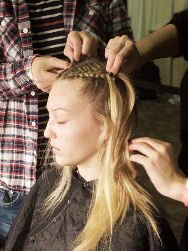 """""""Every other season here, we've always been a little romantic,"""" says lead stylist Anthony Turner for Bumble and Bumble. """"This season, I'm swapping that completely and..."""