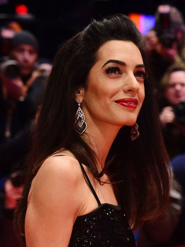 2017 fashion jewelry trends - Amal Clooney Stuns In A Vintage Yves Saint Laurent Gown