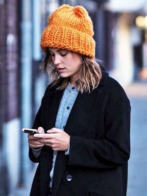 Liven Up Your Winter Look With a Bright Beanie