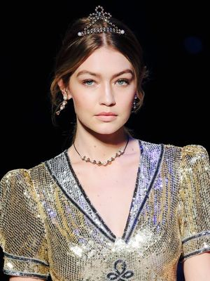Gigi Hadid Was a Nautical Princess at Tommy Hilfiger