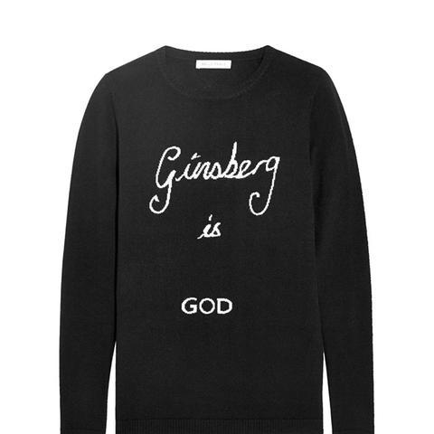 Ginsberg Is God Merino Wool Sweater